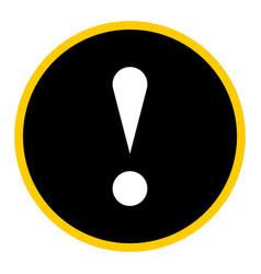 Black circle exclamation mark icon warning sign vector