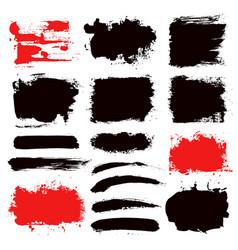 Brush strokes set 13 vector