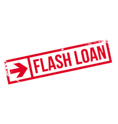 Flash loan rubber stamp vector
