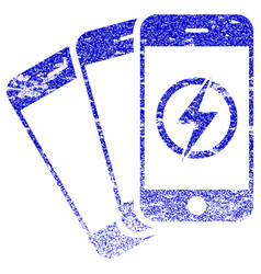 Mobile phones energy textured icon vector