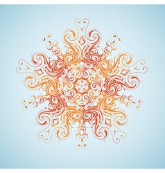 Tribal sun design vector