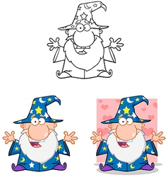 Wizard With Open Arms Collection vector image
