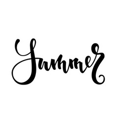 Summer hand drawn calligraphy and brush pen vector