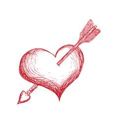 Heart shot cartoon vector