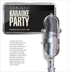 Karaoke party background vector
