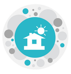 Of weather symbol on home icon vector