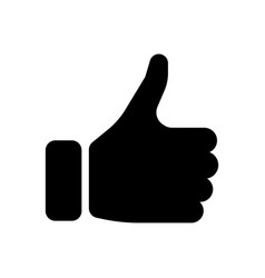 Black hand silhouette with thumb up gesture of vector