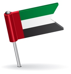 United arab emirates pin icon flag vector