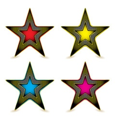 Metal hexagon star award vector