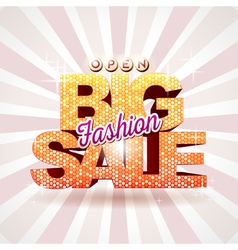 Fashion big sale vector