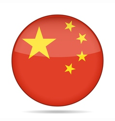 Button with flag of china vector