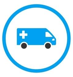 Emergency van rounded icon vector