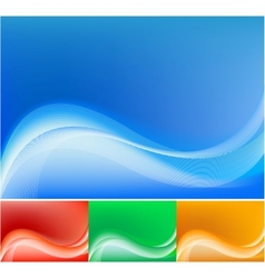 blue abstract composition background vector image
