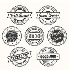 Motivative Badges Set vector image