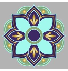 a floral mandala vector image vector image