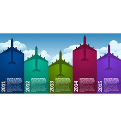 Airplanes infographic vector image