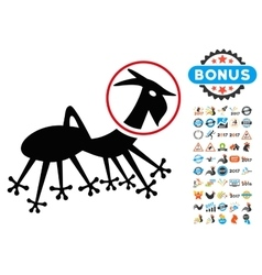 Alien Creature Skafandr Icon with 2017 Year Bonus vector image vector image