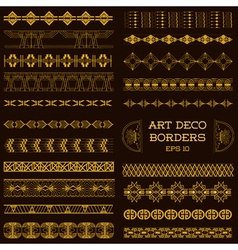 Art Deco Vintage Borders and Design Elements vector image vector image