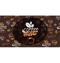 Banner for coffee on the vector