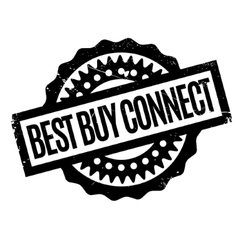 Best buy connect rubber stamp vector