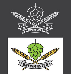 Brewmaster craft beer design vector