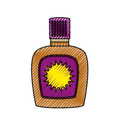 Bronzer bottle isolated vector