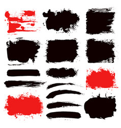 brush strokes set 13 vector image vector image