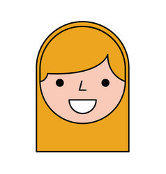 Cute woman head character vector