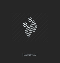 earrings outline icon isolated vector image vector image