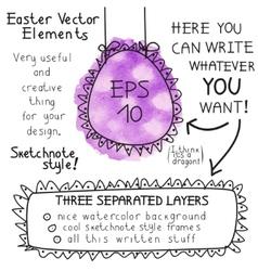 Easter elements vector