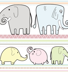 Elephant pattern b vector