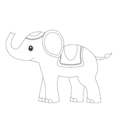 ElephantColoring page coloring pages for adults vector image vector image