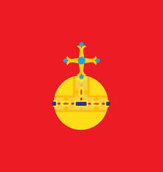 Flag of uppsala county of sweden vector