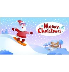 Funky Santa Claus vector image vector image