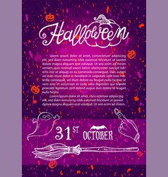 halloween design template for poster vector image vector image