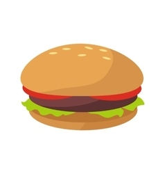 Hamburger icon in flat vector