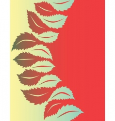 leaf shapes vector image vector image