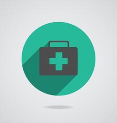 Medical black icon vector image vector image