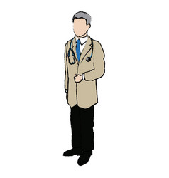 Medical doctor physician with stethoscope vector