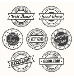 Motivative Badges Set vector image vector image