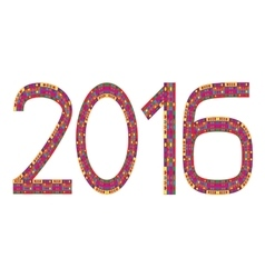 Multi Colored Numbers Of Year 2016 vector image