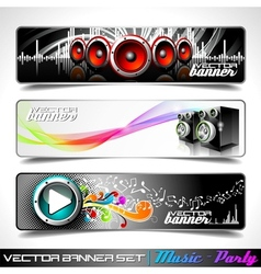 Music themed banners vector