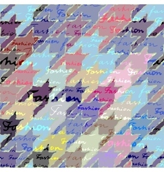Patchwork of hounds-tooth vector
