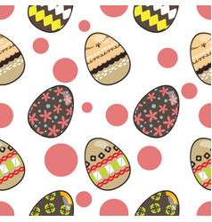 pattern for happy easter day vector image vector image