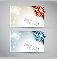 set of christmas new year cards vector image