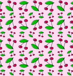 Sour cherries vector image vector image
