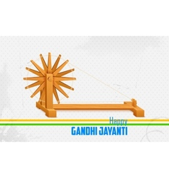 Spinning wheel on india background for gandhi vector
