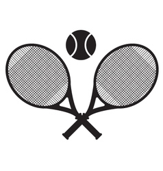 tennis sport icon design vector image