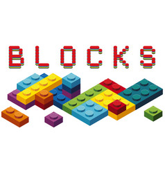 Toy blocks in many colors vector