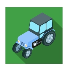 Tractor icon in flat style isolated on white vector